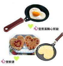 Mini Lovely Heart Shaped Egg Pancake Fry Frying Pan Kitchen Non-Stick Cook Pan(China)