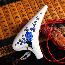 12 Holes Alto C Key Ocarina Flute Legend of Zelda Ocarina flute Hand Drawing Pattern Professional Ocarina Folk Music Instrument(China)