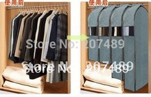Wholesale retail foldable Bamboo Charcoal fibre storage bag box case organizer for suit clothes overcoat jack wind coat size M