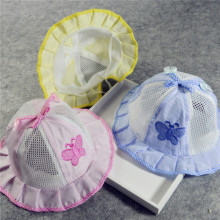 New 2016 Fashion Infant Visor Sun Hats Caps Cute Breathable Cotton Mesh Hat Kids Baby Girl Boy Sun Polka Dot Hats bonnet