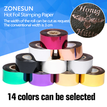 ZONESUN 3cm Rolls(gold and slilver) Hot Foil Stamping Paper Heat Transfer Anodized Gilded Paper with Shipping Cost Fee