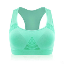 Professional Absorb Sweat Top Athletic Running Sports Bra Gym Fitness Top Women Seamless Padded Vest Tanks M L XL Free shipping
