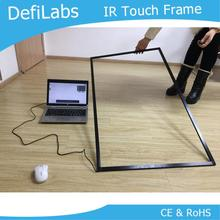 "DefiLabs 10 punten 55 ""IR Infrarood Touchscreen voor interactieve bar-Goede kwaliteit IR touch frame/multi touch panel(China)"
