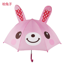 2017 New Children Umbrella Cute Cartoon Baby Parasol Animation Creative 3D Modeling Rabbit Kinder Regenschirm Lasten Sateenvarjo(China)