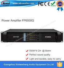 dj 700W*4CH 8 ohms FP6000Q Analog Amplifier lab gruppen Professional Sound System Outdoor Audio Power Amplifier
