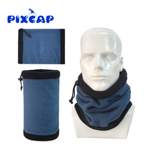 Winter Sun Wind Protection Snowboard Ski Scarf Multi Purpose Headwear Reversible Polar Fleece Tube Bandana Neck Warmer(China)