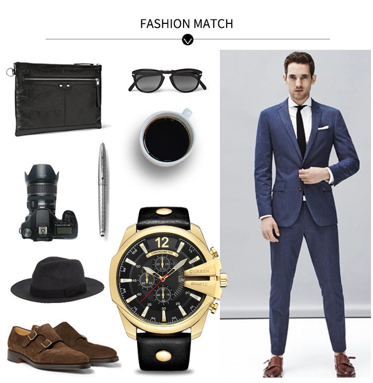 18 Style Fashion Watches Super Man Luxury Brand CURREN Watches Men Women Men's Watch Retro Quartz Relogio Masculion For Gift 17