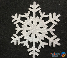 Christmas ornaments window decorated snow and ice effect 15CM acrylic snowflake diamond effect 1