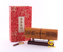Tao Te Ching bamboo book In English and Chinese business gifts / bamboo painting(China)