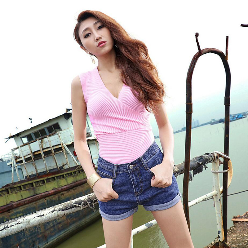 Korean style women cotton denim shorts fashion vintage ripped  high quality cuffs bleached zipper fly short jeans ladies D144Одежда и ак�е��уары<br><br><br>Aliexpress