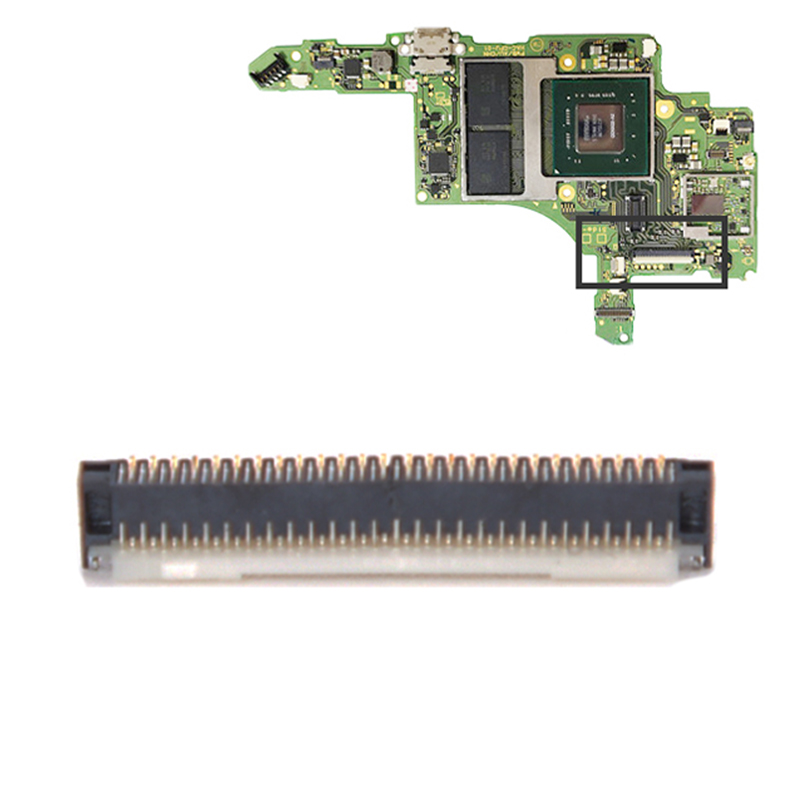 Motherboard LCD Display Screen Flex Cable Clip Ribbon Socket for NS Switch
