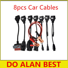 2pcs/lot full set TCS CDP Car Cables 8 pcs car cables obd2 Interface cable connect car scanner DHL ship(China)