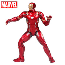 Disney Marvel Avengers Captain America Iron Man Toys Action Figures for Children Boys Xmas Birthday Gifts with 20 Joints in Box(China)