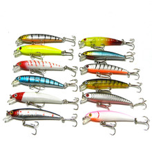 Shopping full $10 Can buy Pesca Diving 12Color 7.5CM / 5.6G Bionic Artificial Bait Hard Minow Carp Fly Fishing Lure Fake Fish