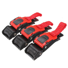 3x Plastic Motorcycle Helmet Speed Clip Chin Strap Quick Release Pull Buckle New Black+Red(China)