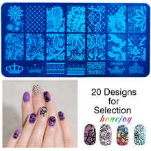 1pc/lot 20 Patterns Stainless Steel Nail Art Stamping Plates Geometric Lace Coconut Shell Owl Manicure Printer Tool Templates