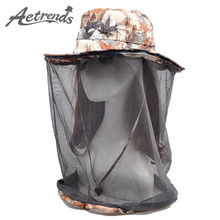 [AETRENDS] Net Yarn Anti-Mosquito Sun Hats for Women Men 2017 Summer Hat Travel Sunscreen Cap Z-5092()
