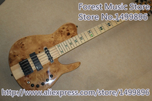 Hot Selling Neck Through 5 String Fodera Electric Bass Guitar Fodera Inlaid Maple Fingerboard For Sale(China)