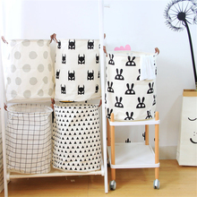 Laundry Basket Dirty Cloth Cartoon Castle Baby Clothes Baskets Waterproof Storage Basket For Toys Organzier Folding Storage Bags(China)
