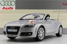 Silver 1:18 Car Model Audi TT Convertible Coupe Sport Car Diecast Model Cabrio Classic Toys Car Replica Luxury Collections