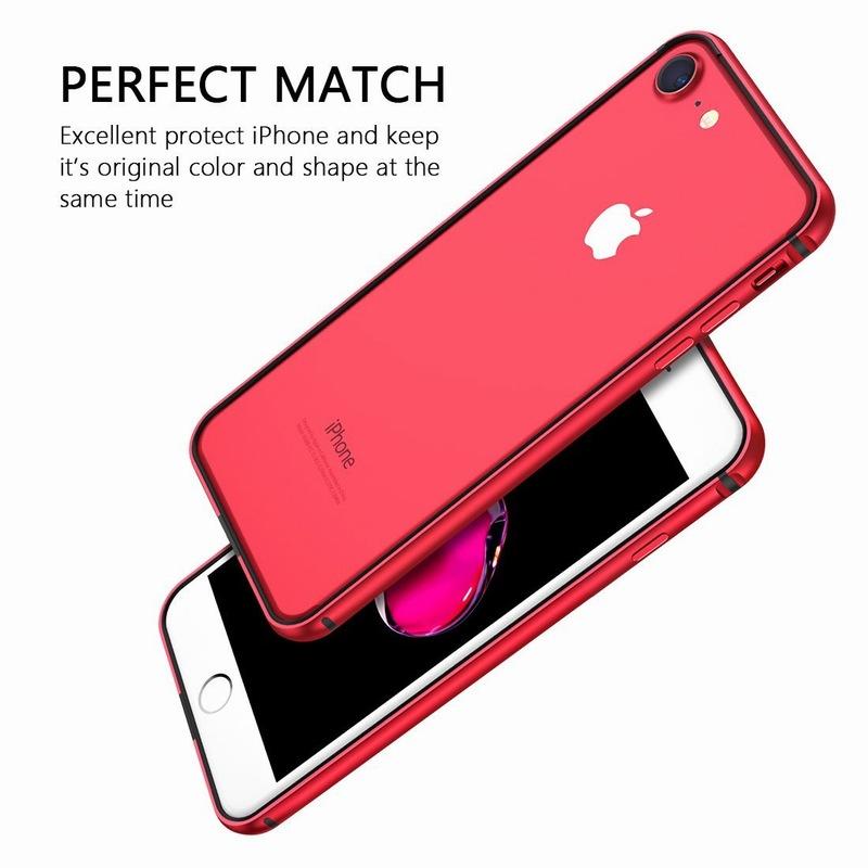 Ascromy For iPhone 8 Case Aluminum TPU Silicone Hybrid Shockproof Bumper Case for iPhone 7 Plus 8 8Plus 7Plus Metal Frame Coque (3)