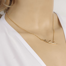 Fashionable street snap model Metal antlers warm poison ah chain necklace clavicle b4xr