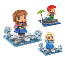 LOZ Diamond Blocks Assembly Snowman Figurine Anime POP Pixels Brick Building Set Mini Mirco Brick DIY Sonw Doll Figure Toys 9500