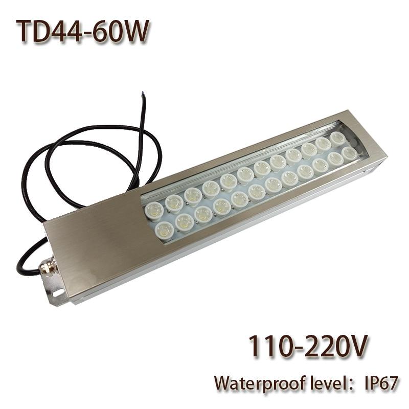 HNTD 60W Led Panel Light AC 110V/220V LED Metal  Work Light  TD44 Concentrating CNC Machine Work Tool Lighting Waterproof IP67<br><br>Aliexpress