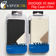 DOOGEE X5 MAX Case + Tempered glass 100% Original Protective Flip leather case + Screen Protector Film For DOOGEE X5 MAX Pro