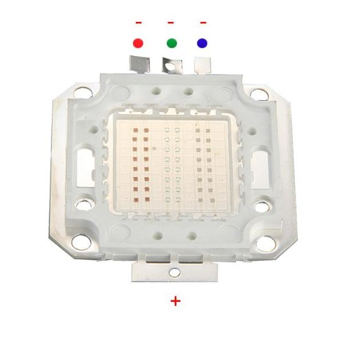 High Power 50W LED Chip RGB Bulb Light Lamp Spotlight DIY, light color: red / green / blue