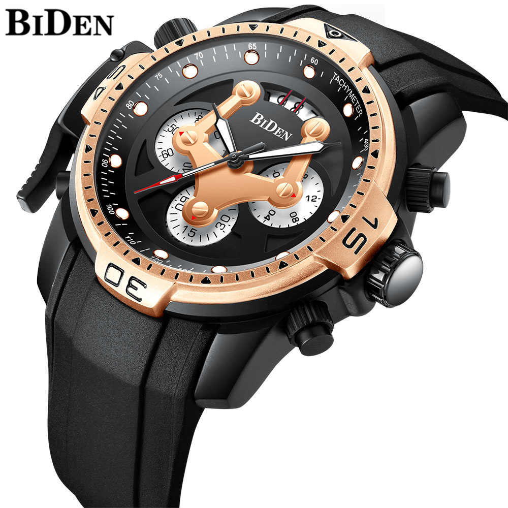 34d249a12cd7 ... sobre Reloj Masculino BIDEN relojes superior de la marca de lujo de  Deporte Militar reloj de cuarzo impermeable fecha reloj hombres reloj de  pulsera en ...