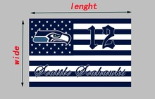 American football Seattle Seahawks custom race flying flag, size 90*150cm, printed banner without flagpole