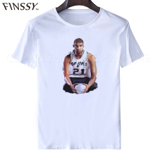 Tim Duncan #21 t shirt jersey Retirement Ceremony San Antonio short sleeve Tshirt Memory Ginobili Parker GDP Popvich tee shirt(China)