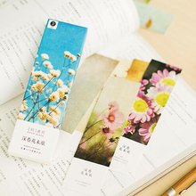 30pcs/lot Cute Vintage Flower & seasons Series paper bookmark set Retro Book marks card bookband Free Shipping