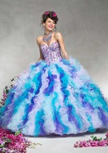 Vestidos De 15 Anos Stunning Amazing Colorful Rainbow Ball Gown Quinceanera Dresses with Jacket Girl Pageant Gown Alibaba China