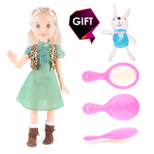 "Sweet Dolls 18"" 45cm Princess Girl Doll 14 Joint Moving Body Realistic Toys Birthday Gift As American Girl Gifts DIY(China)"