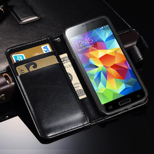 Case for Samsung Galaxy S5 mini G800 Luxury Wallet Style PU Leather Flip Cover Stand Phone Bag Case For Samsung Galaxy S5 Mini(China)