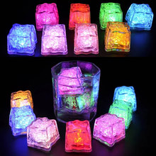 1Pcs Colorful Waterproof LED Whiskey Stones 7 Colors Flash Ice Cube Whisky Cubes Light LED Whisky Ice Stones Party Decoration