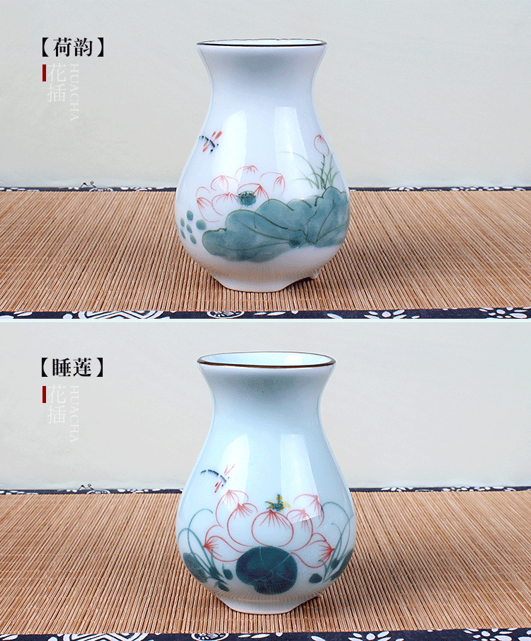Traditional Chinese Handpainted Crackle Glaze Porcelain Vase Advanced  Ceramic Flower Vase Room Study Hallway Home Decoration   Us759