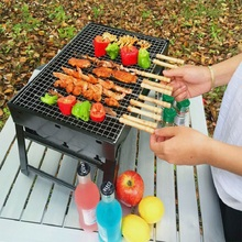 Outdoor Portable Folding BBQ Charcoal Grill Picnic BBQ Grill for Barbecue Camping Barbecue Family Party Grill 44*29cm Big size