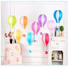 13Pcs Wedding Rainbow Hot Air Balloon Paper Lantern Air Hot Balloons Wedding Party Chinese Paper Lantern Decoration Lamp Light