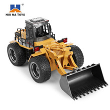 HuiNa1520 RC Car 6CH 1/14 Trucks Metal Bulldozer Charging RTR Remote Control Truck Construction Vehicle Cars For Kids Toys Gifts(China)