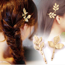 Greek Style Bridal Olive Branches Leaves Hair Clip Hairpins Barrette Wedding Decoration Hair Accessories Hairwear for Girls