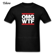 OMG WTF Tshirt Man Leisure Summer Print Crew Neck Short Sleeve Male Clothes Pure Cotton Fashion T-shirt For Sale Men Boys Shirt