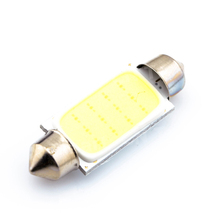 42MM 12 Chips DC12V   COB C5W Car Auto Festoon Dome Interior LED Lights Lamp Map Roof Reading Bulb White  Big Promotion