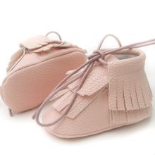 baby girl shoes princess First Walkers pink Soft Sole infant Butterfly-knot baby Moccasins leather pu fringe boots