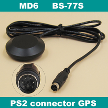 9600 baud rate RS232,MD6 PS2 male connector RS-232 GPS receiver,FLASH,IPC GPS module antenna,BS-77S,replace BR-355S4(China)