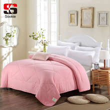 Sookie Solid Color Summer Quilt Bedding Thin Throws Light Weight Air Conditioning Quilting Comforter Blankets Duvet Quilts(China)