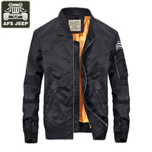 AFS JEEP Brand Bomber Jacket Men 2017 Jacket Men Fashion Casual Baseball Clothes Slim Fit Mens Bomber Jackets Coat Male S-3XL
