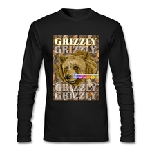 Cheap Price Grizzly Tee Male Crewneck Movie T Shirts Normal Full Sleeve Men's T Shirts(China)